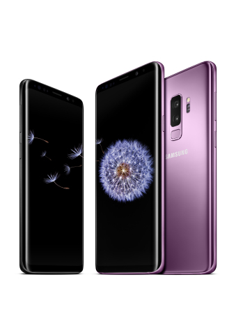 Designed for the way we communicate today, Samsung's new Galaxy S9 and Galaxy S9+ are available in the U.S. at wireless network providers, retailers and on Samsung.com. (Photo: Business Wire)