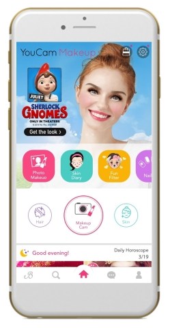 Perfect Corp. teams up on new animated movie SHERLOCK GNOMES with an exclusive augmented reality beauty experience in YouCam apps (Photo: Business Wire)