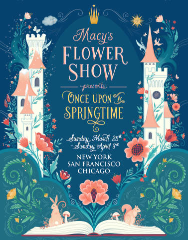 Macy's Flower Show presents Once Upon a Springtime, a floral spectacle blooming from March 25 through April 8 in New York City, Chicago and San Francisco (Photo: Business Wire)