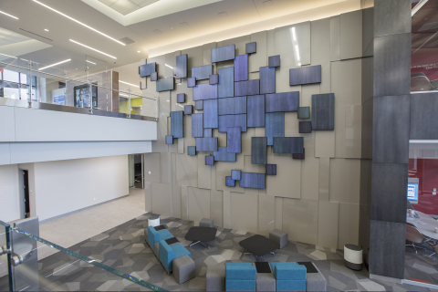 World Wide Technology showcases impactful Planar Mosaic video wall in new headquarters atrium. (Photo: Business Wire)