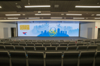 Word Wide Technology installs massive 55' wide Leyard TWA Series LED video wall in auditorium of new global headquarters. (Photo: Business Wire)