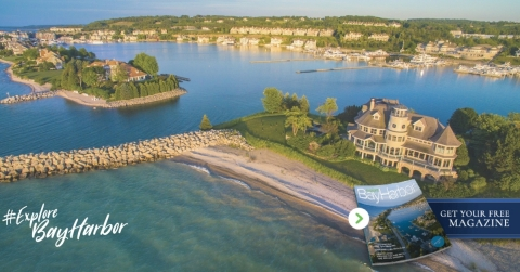 Spanning more than five miles of pristine Lake Michigan shoreline, Bay Harbor is a prime destination for vacationers and residents alike. (Photo: Business Wire)