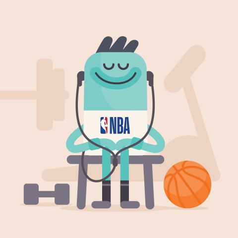 NBA Teams Up with Leading Mindfulness App Headspace to Provide Training and Resources to League and Team Staff (Graphic: Business Wire)