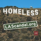 A series of Sticky Note ads on the front page of the Los Angeles Times this week will focus on the homeless crisis and feature the word 'Homeless' in the style of the iconic Hollywood sign. Readers are urged to visit LAScandal.org and call L.A. Mayor Eric Garcetti an tell him to ACT NOW on homelessness. (Graphic: Business Wire)