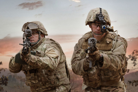 BAE Systems will provide the U.S. Army with new night vision goggles and thermal weapon sights for the ENVG III/FWS-I program. The integrated solution uses a wireless connection that transmits the weapon sight's aim point and surrounding imagery directly into the soldier's goggle. (Photo: BAE Systems)