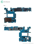 Samsung Galaxy S9+ main printed control board (PCB) - top and bottom views. Source: IHS Markit 2018