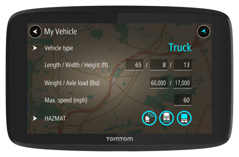 TomTom Introduces GPS Device for Truckers in North America (Photo: Business Wire)