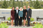Jennifer Jones, Director, Corporate Relations and Major Gifts; Bill and Judi Leonard, Donors; Gwen Anderson, Executive Director, Mission Hospital Foundation; Tarek Salaway, Chief Executive, Mission Hospital. (Photo: Business Wire)