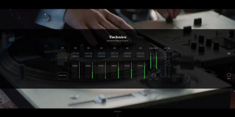 """""""黑胶唱机交响乐团""""特别网站设计酷似Technics设备(照片:美国商业资讯)"""