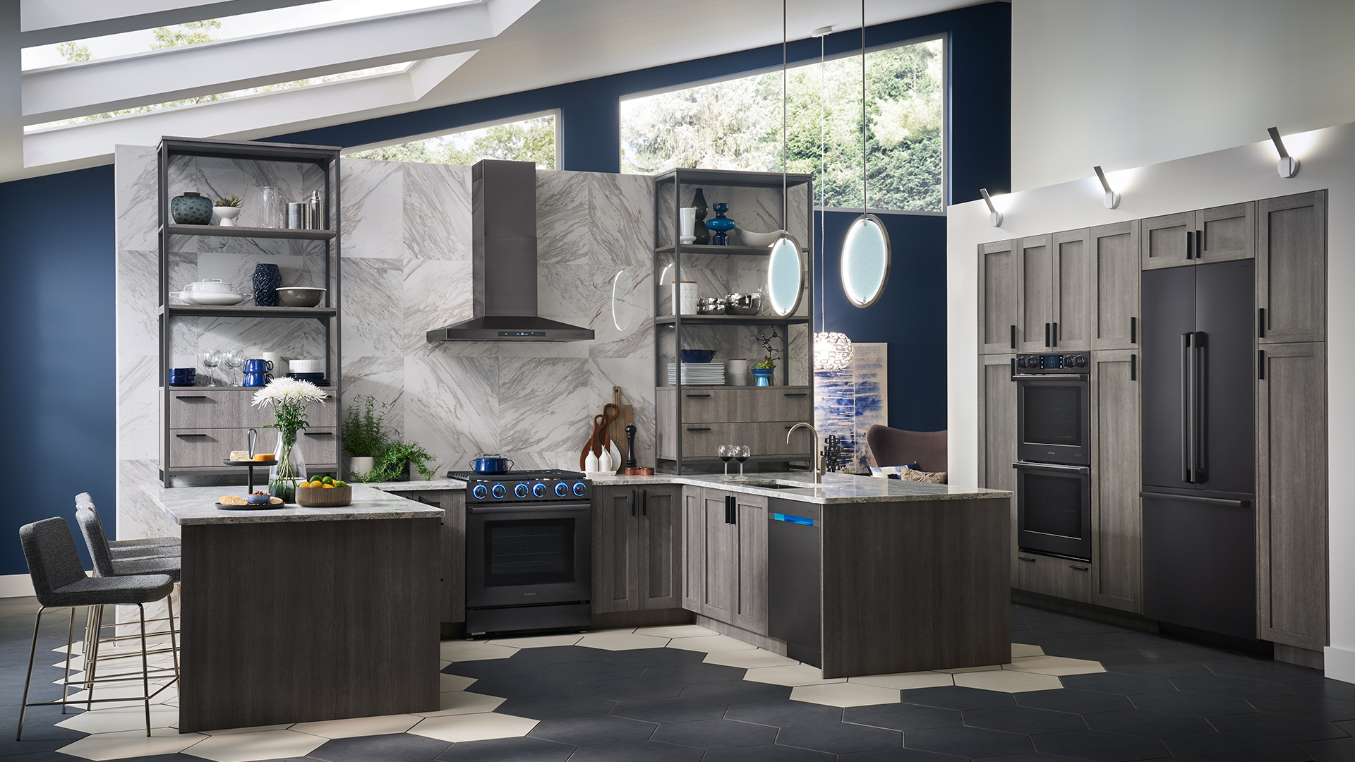 The Modern Kitchen Designed For Real Life Samsung Showcases Latest Home Appliance Innovations At The 2018 Architectural Digest Design Show Business Wire