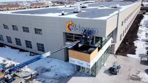 Aldevron has selected AES Clean Technology to design modular cleanrooms for Aldevron's $30 million, 70,000 square-foot manufacturing facility. (Photo: Aldevron)
