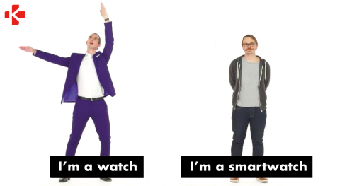MyKronoz newest video campaign: I'm a watch / I'm a smartwatch (Photo: Business Wire)