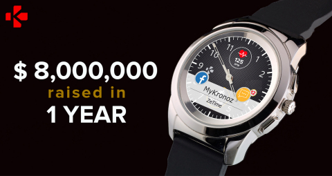 MyKronoz ZeTime, the world's first hybrid smartwatch with mechanical hands and color touchscreen (Photo: Business Wire)