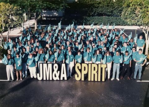 Associates at JM&A Group have celebrated many milestones and accomplishments over the years. In 2018, they celebrate 40 years of these successes. (Photo: Business Wire)