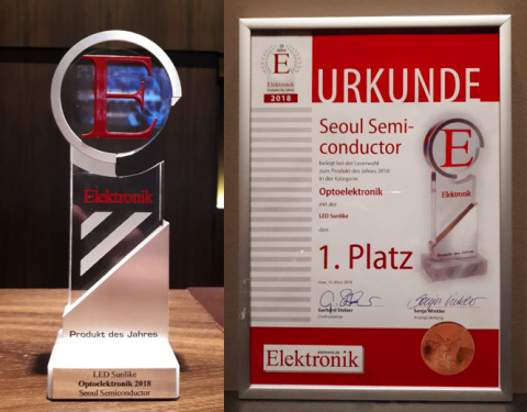 Product of the Year Award from Elektronik Magazine (SunLike) (Photo: Business Wire)
