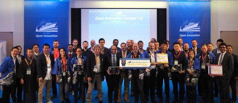 Finalists and judges of the Open Innovation Business Contest (Photo: Business Wire)