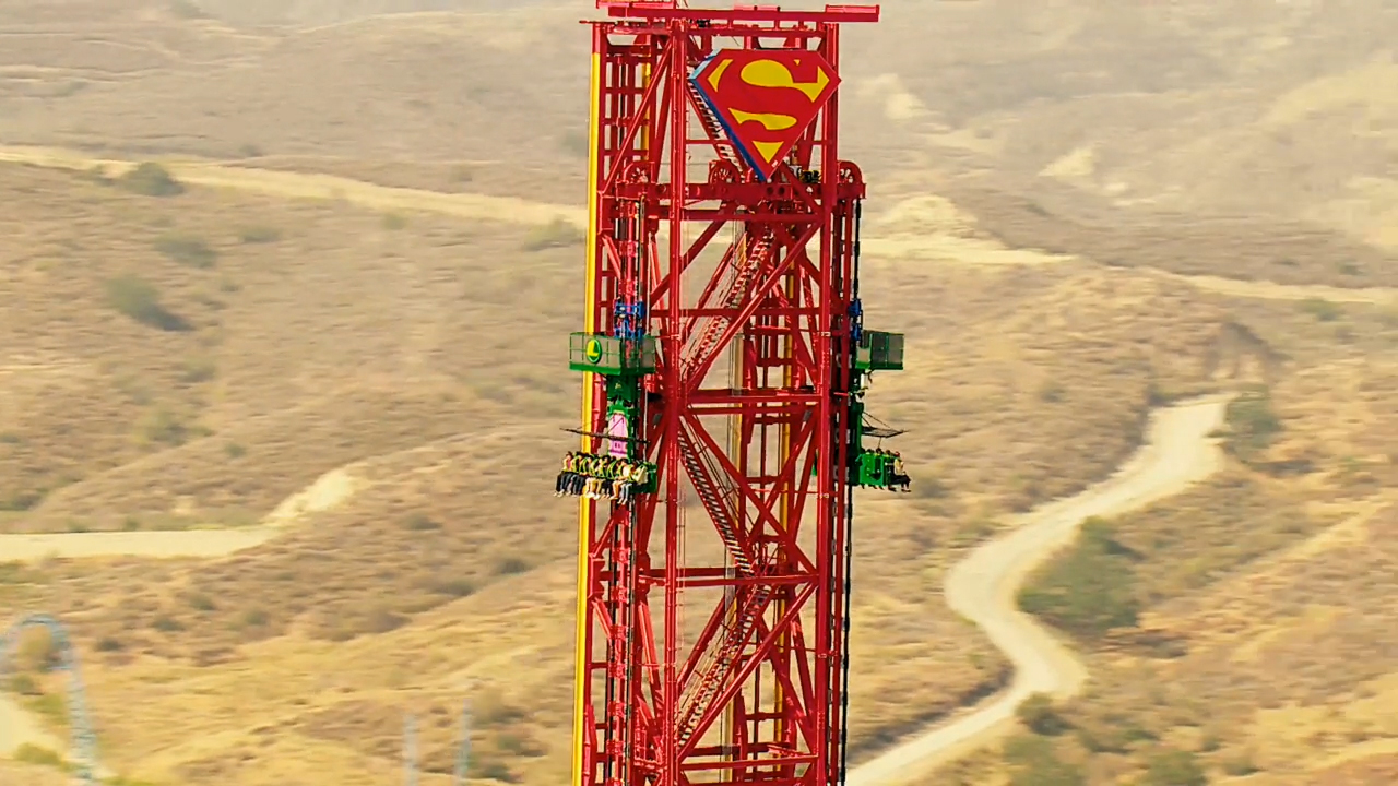 "Six Flags Magic Mountain, the undisputed ""Thrill Capital of the World,"" today announced the debut of the new extreme virtual reality experience on one of the world's tallest and fastest drop tower rides, DC SUPER HEROES Drop of Doom VR. Thrill-seekers don special VR headsets to view the action as SUPERMAN and WONDER WOMAN battle their nemesis, LEX LUTHOR, while plunging 400 feet at speeds up to 85 mph. Six Flags Magic Mountain is open 365 days a year."