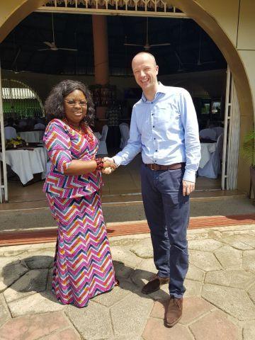 Doris Belinda Arkorful, CEO & Founder LINDA DOR & Erwin Spolders, CEO & Founder REDAVIA (Photo: Busi ...
