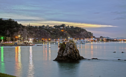 The project, part of a New Zealand Transport Agency programme to convert existing road lighting to LED, will involve replacing Whakatane's 2,500 streetlights with wirelessly managed LEDs (Photo: Business Wire)