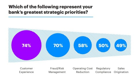 Which of the following represent your bank's greatest strategic priorities? (Graphic: Business Wire)