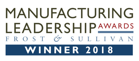 Protolabs was chosen as a recipient of a Frost & Sullivan Manufacturing Leadership Award for its continuous improvement initiative. (Graphic: Frost & Sullivan)