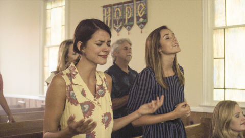 """Masey McLain, left, and Sadie Robertson star in """"I'm Not Ashamed,"""" just one of the hundreds of movies now streaming on PureFlix.com's new Spanish-language platform. (Photo: Business Wire)"""