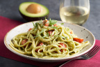 Linguine with California Avocado Pesto and Cherry Tomatoes by Josiah Citrin of Charcoal Venice for the California Avocado Commission (Photo: Business Wire)