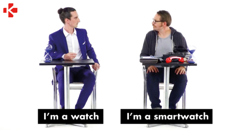 MyKronoz newest video campaign: I'm a watch / I'm a smartwatch (Photo: MyKronoz)