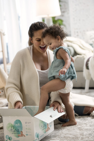 Chrissy Teigen has joined the Pampers family as the first-ever Creative Consultant for the new Pampers Pure Collection. (Photo: Business Wire)