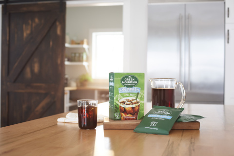 Green Mountain Coffee Roasters® today announced the launch of Alpine Roast™ Cold Brew coffee, marking the brand's first foray into the cold brew, slow steep coffee space. Simple to make at home, Green Mountain Coffee Roasters® Alpine Roast™ Cold Brew Coffee requires no coffee maker. (Photo: Business Wire)