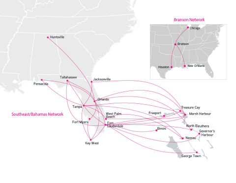 Silver Airways Announces Daily Nonstop Service to Branson, Missouri from New Orleans, Houston and Chicago Starting August 30, 2018 (Photo: Business Wire)