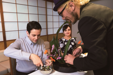A 45-minute long lesson of traditional Japanese flower arrangement, provided by a renowned flower arrangement artist (Photo: Business Wire)