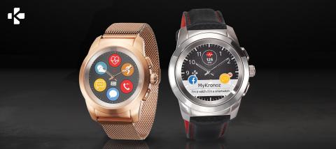 La montre connectée hybride ZeTime de MyKronoz bat des records avec 8 millions de dollars levés. (Photo: MyKronoz)