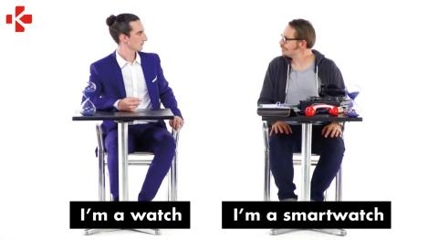"""La campagne """"I'm a watch; I'm a smartwatch"""" a été co-créée avec YZ, agence de marketing digital créatif basée à Paris, Berlin et bientôt Londres. (Photo: MyKronoz)"""