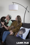 """Enrique """"Kiké"""" Hernandez of the Los Angeles Dodgers and fiancée Mariana Vicente enjoy time at home with their dogs, Bruce and Arizona. A Lamps Plus custom photo pillow features a photo of Bruce in the snow. (Photo: Lamps Plus)"""