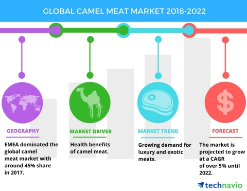 Technavio has published a new market research report on the global camel meat market from 2018-2022. (Graphic: Business Wire)