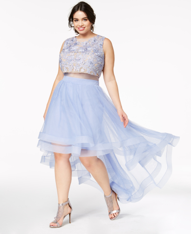 Macy's makes every girl's prom dream a reality with the chicest styles and latest trends. Say Yes to the Prom jeweled top pop overlay dress, $169, created for Macy's (Photo: Business Wire)