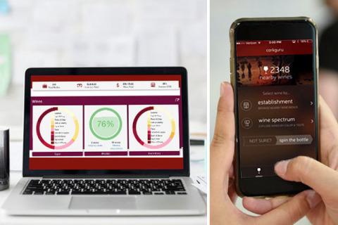 CorkGuru platform display on desktop and mobile (Photo: Business Wire)