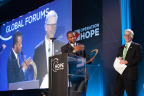 CoreLogic President Frank Martell with John Hope Bryant at HOPE Global Forums event in Atlanta. (Photo: Business Wire)