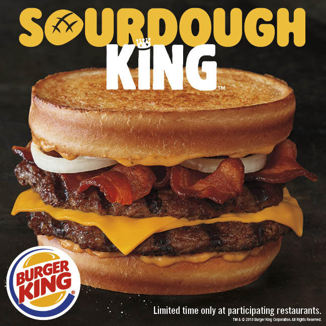 Burger King Restaurants Introduce New Sourdough King And