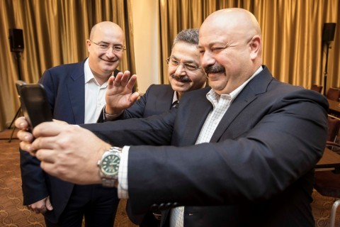 lifecell launched 4.5G in Ukraine over a BiP video call between the Turkcell executive team and lifecell's Ukraine headquarters today. (Photo: Business Wire)