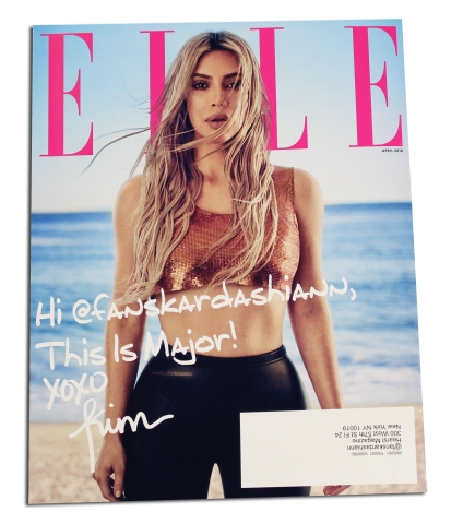 ELLE April 2018 Cover (Photo: Business Wire)