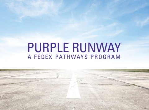"FedEx Express rolls out ""Purple Runway - A FedEx Pathways Program,"" a pilot development program designed to produce the pilots of tomorrow. (Photo: Business Wire)"