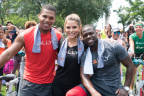"Actor and comedian Kevin Hart, TV/radio personality Maria Menounos and Ron ""Boss"" Everline are hosting the Rally HealthFest in Maggie Daley Park in downtown Chicago on Saturday, April 14. (Photo: Business Wire)"