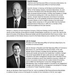 Biographies for David W. Kemper and John W. Kemper