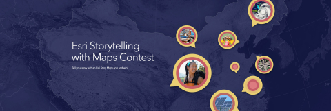 Esri today announced the opening of its Storytelling with Maps Contest. (Graphic: Business Wire)