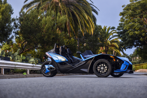 "Slingshot, the bold three-wheeled, open-air roadster has announced Florida, one of the most popular states for the brand given its unique style and year-round sunshine, is the latest state to reclassify its driving requirements as an ""Autocycle."" (Photo: Polaris Slingshot)"