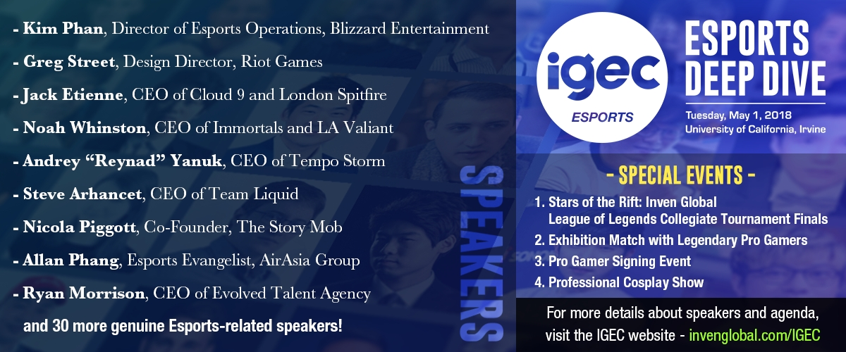 On May 1st, Inven Global Gathers International Esports Icons