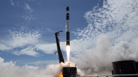 Rocket Lab's Electron orbital launch vehicle in flight, 21 January 2018 (Photo: Business Wire)