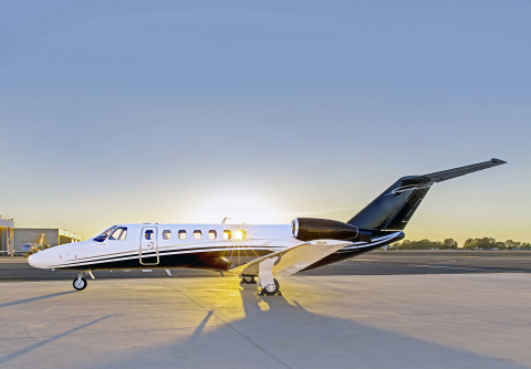 Latitude 33 Aviation manages the newest and largest fleet of light jets in the U.S., many of which are available for private jet charter flights. (Photo: Business Wire)